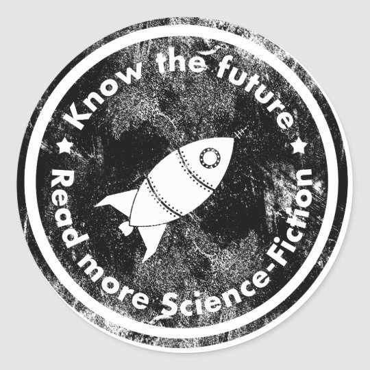 Know the Future - read more Science fiction Runder Aufkleber