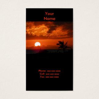 Ko Olina Sonnenuntergang-Visitenkarte Visitenkarten