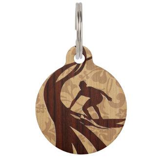 Koa hölzernes Surfer-Imitat-Holz-Surfbrett Tiermarke Mit Namen