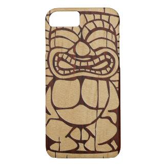 Koa hölzernes Tiki Ailani Imitat-Holz-Surfbrett iPhone 8/7 Hülle