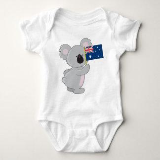 Koala-Australier-Flagge Baby Strampler