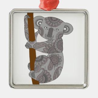 Koala-Bär Silbernes Ornament