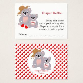 Koala-Bärn-super niedliche Baby-Windelraffle-Karte Visitenkarte