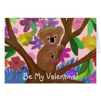 Koala-Bärn-Valentinsgruß-Karte Karte