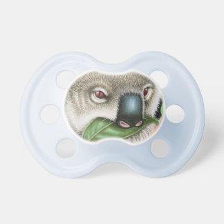 Koala, der ein Blatt kaut Schnuller