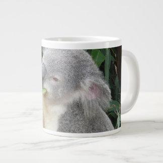 Koala, der Gummi-Blatt isst Jumbo-Tasse