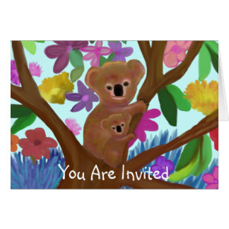 Koala-Einladungs-Karte Karte
