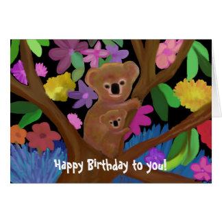 Koala-Geburtstags-Karte Karte