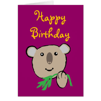 Koala, HappyBirthday Karte