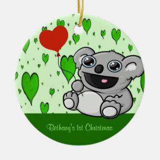 Koala-Herz-Ballon Keramik Ornament