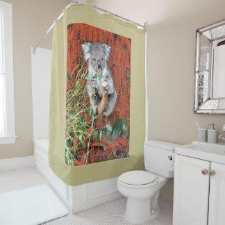 Koala-Imbiss-Zeit Duschvorhang