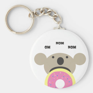 Koala-Krapfen-Diät Standard Runder Schlüsselanhänger