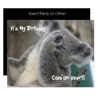 Koala laden Geburtstags-Party ein Karte