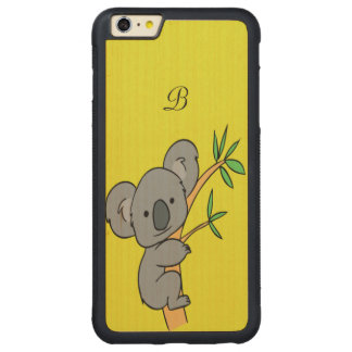 Koala-Monogramm Carved® Maple iPhone 6 Plus Bumper Hülle