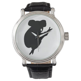 Koala-Silhouette Armbanduhr