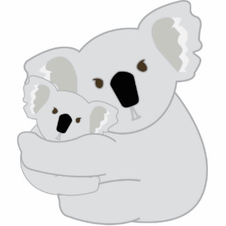 Koala-Umarmungen Fotoskulptur Schlüsselanhänger