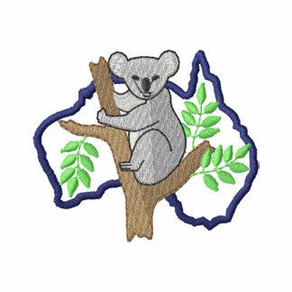 Koala und Australien-Kontur Bestickte Freizeitjacken