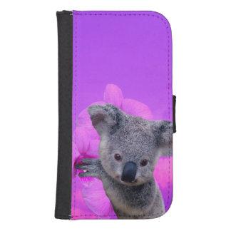 Koala und Orchideen Geldbeutel Hülle Für Das Samsung Galaxy S4