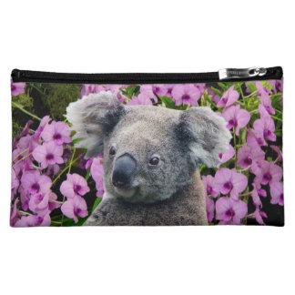 Koala und Orchideen Kosmetiktasche