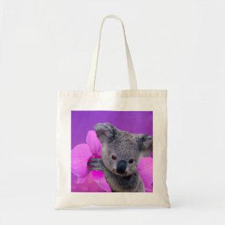 Koala und Orchideen Tragetasche