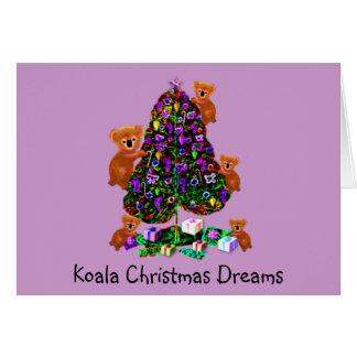 Koala-Weihnachtsmorgen-Gruß-Karten Karte
