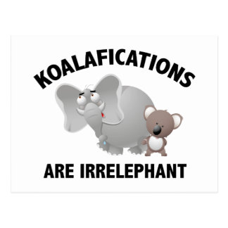 Koalifications sind Irrelephant Postkarte
