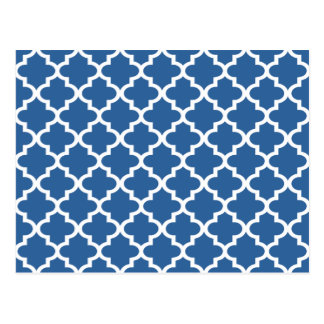 Kobalt-Blau-marokkanisches Fliesen-Gitter Postkarte
