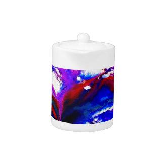 Kobalt und violettes abstraktes