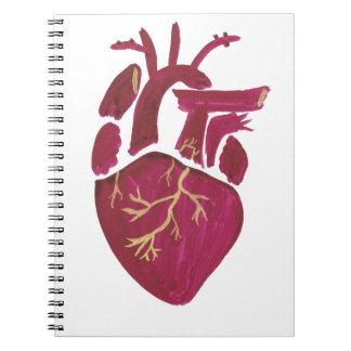 Kobalt-Veilchen-Herz Notizblock