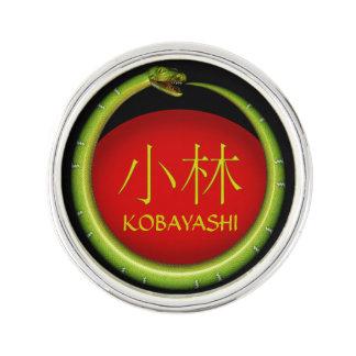 Kobayashi Monogramm-Schlange Anstecknadel