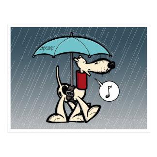 Kobi Köter im Regen (Serie 1) Postkarten