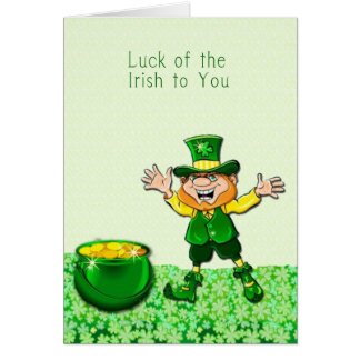 Kobold-Glück der irischen Karte