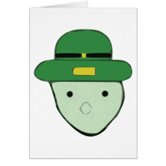 Kobold-Grün farbige Skizze Meme Grußkarte