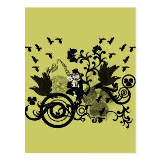 Kobold im Schwarzen Postkarte