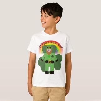 Kobold Jungen-St. Patricks Tages T-Shirt