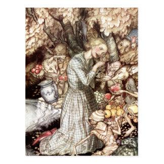 Kobold-Markt: wertvoller goldener Verschluss Postkarte