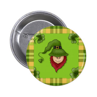 Kobold-St Patrick TagesButton-Knopf Runder Button 5,7 Cm