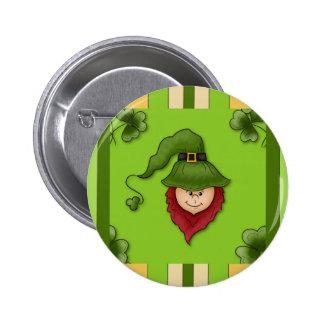 Kobold Stripes St Patrick TagesButton-Knopf Runder Button 5,1 Cm