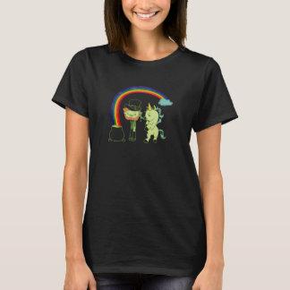 Kobold-und Einhorn-St Patrick Tagest-stück T-Shirt