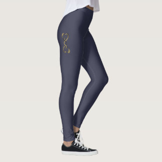 Kobra-Herzen Leggings