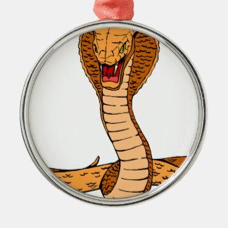 Kobra Silbernes Ornament