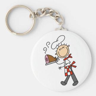 Koch mit gebackenen Schinken-T-Shirts und Geschenk Standard Runder Schlüsselanhänger