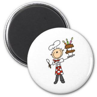 Koch mit Geburtstags-Kuchen-Magneten Kühlschrankmagnet