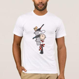 Koch mit Töpfen und Wannen-T-Shirts und Geschenke T-Shirt