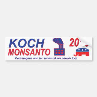 Koch Monsanto für Präsidenten 2016 Autoaufkleber