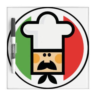 Koch und Flagge von Italien Memoboard