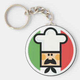 Koch und Flagge von Italien Standard Runder Schlüsselanhänger
