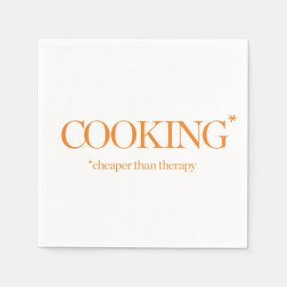 Kochen billiger als Therapie Papierserviette