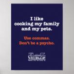 Kochen der Familie und der Haustiere Plakatdruck