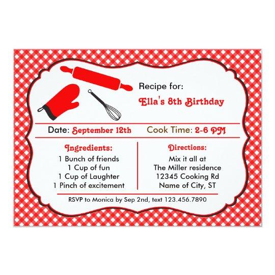 Kochen der Geburtstags-Party Einladung | Zazzle.de